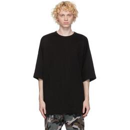 Juun.J Black Pintuck Detail T-Shirt JC0742P01