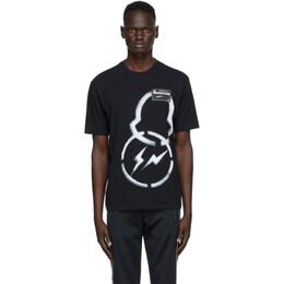Moncler Genius 7 Moncler Fragment Hiroshi Fujiwara Black Graphic T-Shirt F209U8C707108392B