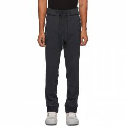 11 By Boris Bidjan Saberi Black French Terry Lounge Pants 137-P13-F1235