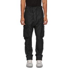 11 By Boris Bidjan Saberi Black Coated Cotton Cargo Pants 63-P21B-F1426