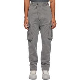 11 By Boris Bidjan Saberi Grey Denim Used Cargo Pants 65-P21B-F1451