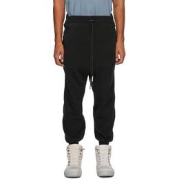 Boris Bidjan Saberi Black Coated Lounge Pants P9-F092