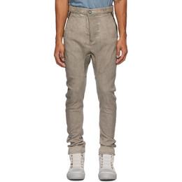 Boris Bidjan Saberi Taupe Oxidized Jeans P4-F1603K