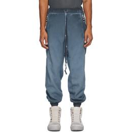 Boris Bidjan Saberi Blue Faded Lounge Pants P9-F092