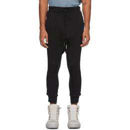 Boris Bidjan Saberi Black Object-Dyed Lounge Pants LONGJOGN 2.1-F0409C