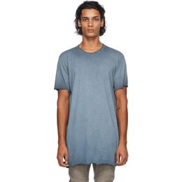 Boris Bidjan Saberi Blue Resin-Dyed T-Shirt F035