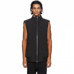 11 By Boris Bidjan Saberi Black Zip-Up Vest 31 V1C-F1338