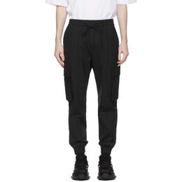 Juun.J Black Wool Cargo Pants JC0721P31