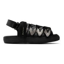 Toga Pulla Black Leather Hardware Sandals FTGPW105609009