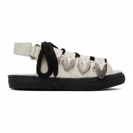 Toga Pulla White Suede Hardware Sandals FTGPW105600101
