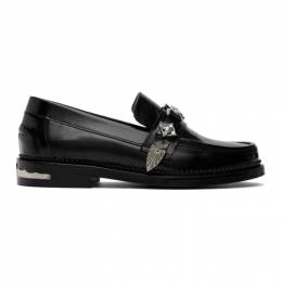 Toga Pulla Black Leather Hardware Loafers FTGPW104109021