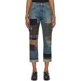 Junya Watanabe Blue Patchwork Jeans XF-P014-052