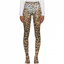 Junya Watanabe Brown Leopard Tights JF-K503-051