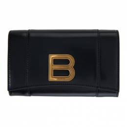 Balenciaga Black Medium Hourglass Wallet 600211-1QJ4M