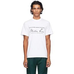 Martine Rose White Classic T-Shirt MRAW20-603 CLASSIC S/