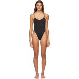Versace Underwear Black Greek Key One-Piece Swimsuit ABD07034_A232185_A100