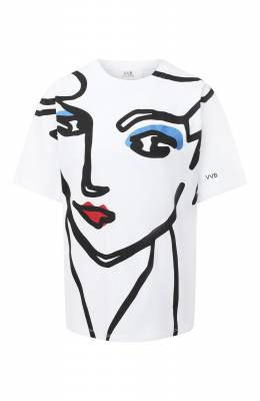 Хлопковая футболка Victoria, Victoria Beckham 2320JTS001708A