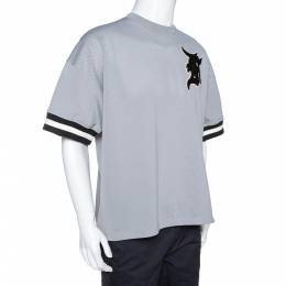 Fear Of God Grey Mesh Baseball Jersey Oversized T-Shirt S 306675