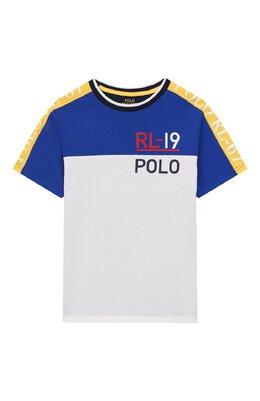 Хлопковая футболка Polo Ralph Lauren 323738511