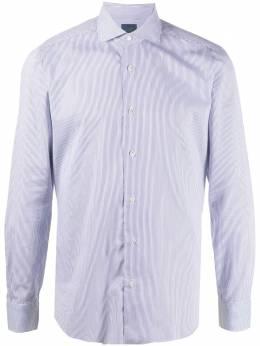 Barba рубашка в тонкую полоску с косым воротником LIU13P016639