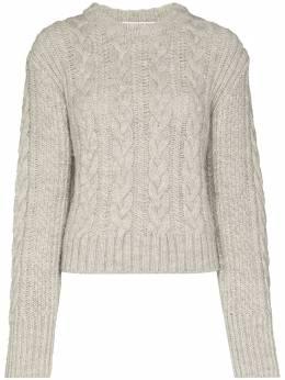 Cecilie Bahnsen свитер фактурной вязки с открытой спиной AW200206LARISSAJUMPER