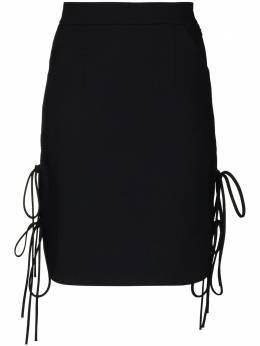 Materiel юбка мини с завязками по бокам FW20TAN1060SKBK