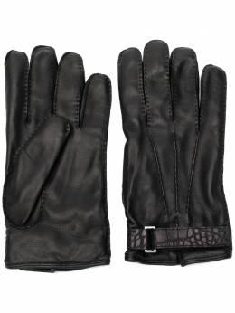 Ermenegildo Zegna перчатки с тисненым ремешком Z8G54G8E