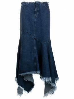 Marques'Almeida длинная джинсовая юбка асимметричного кроя RST20SK0024DNMX