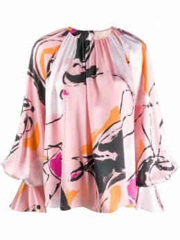 Roksanda блузка с рукавами колокол и принтом AW20B71138