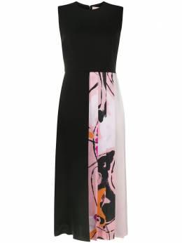 Roksanda приталенное расклешенное платье со вставками AW20H175918