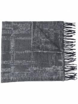 Ermenegildo Zegna клетчатый шарф с бахромой Z8L2128D