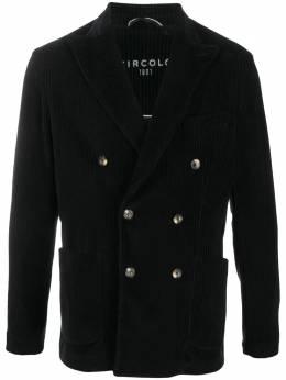 Circolo 1901 двубортный фактурный пиджак в полоску CN2770