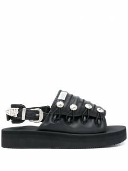 Suicoke сандалии с пуговицами из коллаборации с Toga Mura OG104VLTOGA