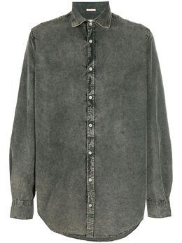 Massimo Alba джинсовая рубашка из вареного денима CANARYT4243