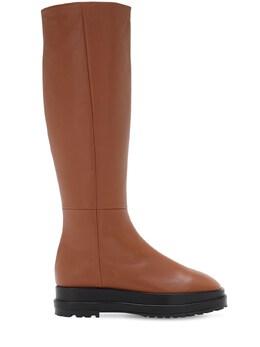 Ботинки Из Кожи На Платформе 40мм Reike Nen 72IMUO005-QlJPV04vQkxBQ0s1
