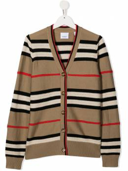 Burberry Kids кардиган в полоску Icon Stripe 8026852
