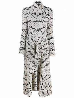 Christian Wijnants фактурное платье с абстрактным принтом KINSHU5067