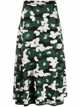 Christian Wijnants юбка из ткани пике с абстрактным узором KOODI5065