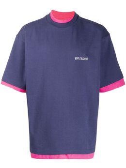 We11Done layered vintage logo T-shirt WDTP620030UNV