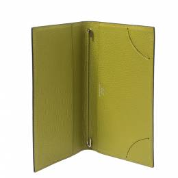 Hermes Vert Chartreuse Mysore Leather Vision II Simple Agenda Cover 321418