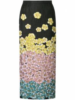 Saiid Kobeisy юбка-карандаш с цветочной вышивкой CAPS2004