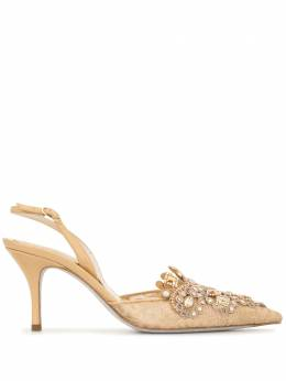 Rene Caovilla туфли Veneziana с ремешком на щиколотке C10260075PN01H321