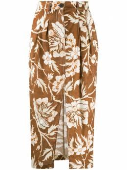 Mara Hoffman юбка миди Florence с цветочным принтом W003214130