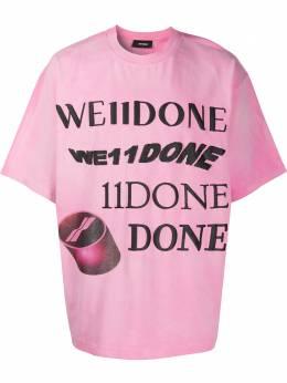 We11Done футболка с тисненым логотипом WDTT820107UPK