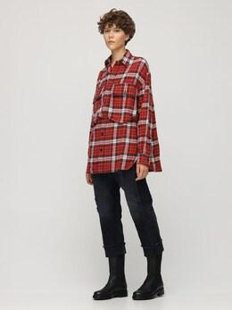 Рубашка Из Фланели С Карманами-карго R13 72I3KH011-UkVEIFBMQUlE0