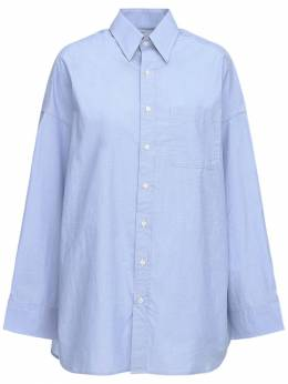 Рубашка Оверсайз Из Поплин R13 72I3KH007-TElHSFQgQkxVRQ2