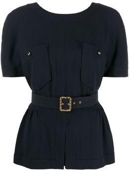 Chanel Pre-Owned блузка 1995-го года с поясом CL1200H