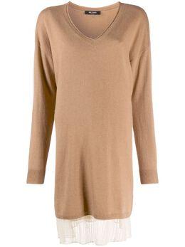 Twin-Set многослойное платье-свитер 202MP3091