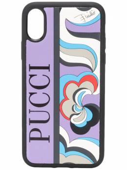 Emilio Pucci чехол для iPhone X с абстрактным принтом 0USK100U024