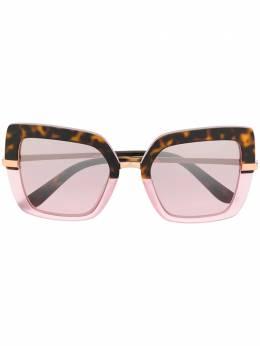 Dolce&Gabbana Eyewear солнцезащитные очки в квадратной оправе DG437332487N